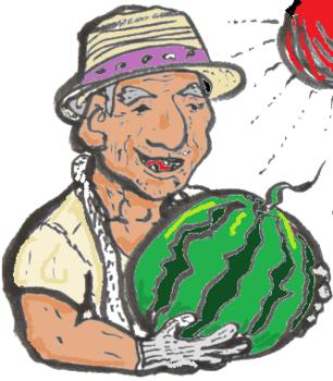 スイカをもつ農家のおじいさん.png